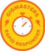 GigMasters Rapid Responder Badge