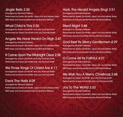 Serenata Strings Christmas CD, Back Cover #2